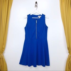 MICHAEL KORS Half-Zip Ponte A-Line Dress Size 14